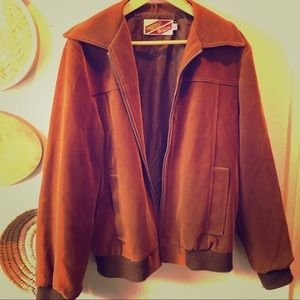 Other - Vintage zip front bomber style jacket